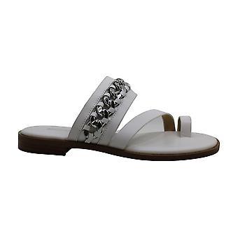 Michael Michael Kors Womens Bergen Leather Peep Toe Casual Slide Sandals