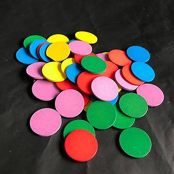 Montessori Educational Wooden, Colors Sense Rounds Blocks Sensory Math Kids