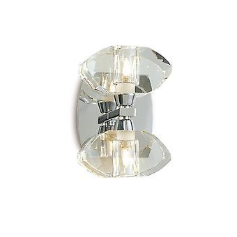 Lampa ścienna Przełączana 2 Światło G9, polerowany chrom