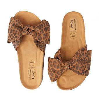 Joules Bayside Bow Slider Sandaal (luipaard)