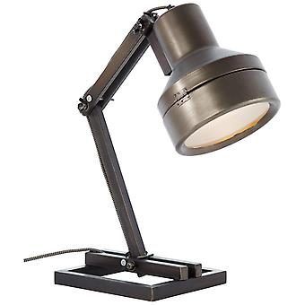 Lâmpada brilhante Lâmpada de Trabalho Lâmpada De aço preto | 1x A60, E27, 28W, adequado para lâmpadas normais (não incluídas) | Escala
