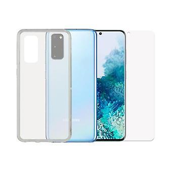 Hærdet glas mobil skærm beskytter + mobile sag Samsung Galaxy S20 Kontakt