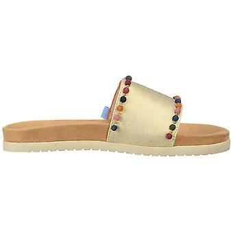 Toms vrouwen ' s paradijs dia sandaal, gouden Shimmer canvas poms, 5 B medium u.s.