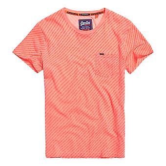 Superdry Whistler Geo Tee - Hyper Pink