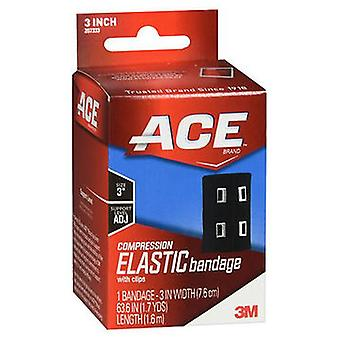 Ace Compression Elastic Bandage With Clips 3 Inch, 1 Each