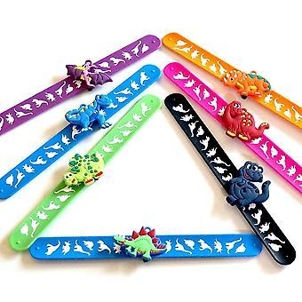 Dinosaur Slap Silicone Bracelets For (22 X 3cm)