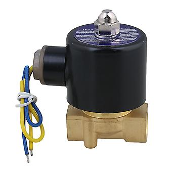 DC 12V 3/8Inch Water Air Gas Fuel Electric Solenoid Valve N/C
