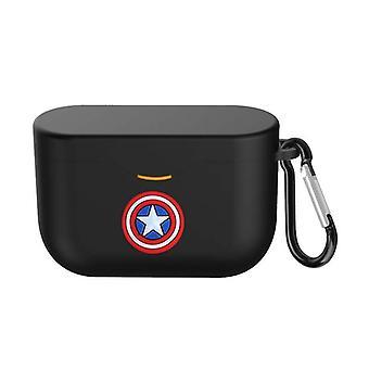 Funda Caja protectora de silicona con hebilla para Sony WF-1000XM3 Negro (Capitán Ame