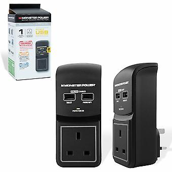 Monster Power Core 100 1 Port USB Surge Protected Socket