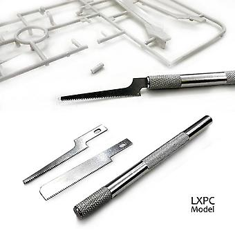 Mallin valmistus työkalu teräs malli saha mini käsi saha ohut terä 2 sahanterät