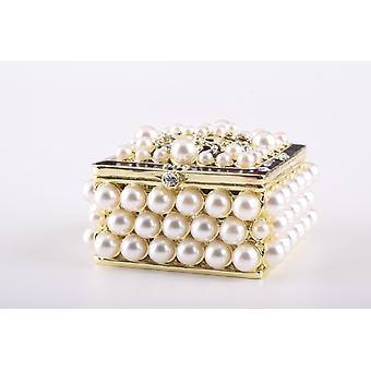 Gold-Box mit Perlen-Schmuck-Box