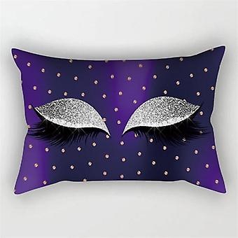 Cute Eyelash Pattern, Soft Pillow Cover