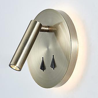 Moderne LED Bedside Lamp Antiek Brons, warm Wit 3000K 750lm