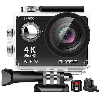 Akaso ek7000 4k sport aparat de fotografiat de acțiune ultra hd camera video 12mp wifi aparat de fotografiat impermeabil 170 de grade lățime v wom71241
