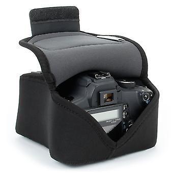 Usa gear dslr camera bag for digital camera with neoprene protection, holster belt loop and accessor wom27913