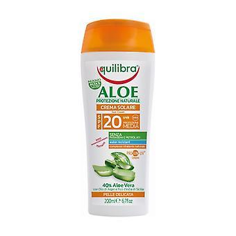 Aloe Sun Cream Spf 20 200 ml of cream