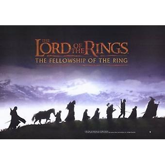 Ringenes Herre i Ringens brorskap - stil jeg filmen plakat (17 x 11)