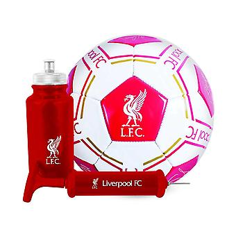 Liverpool FC Football Soccer Signature Ball Bottle Pump Gift Set 500ml