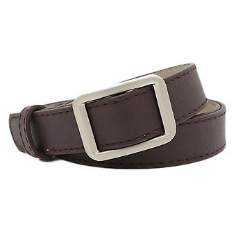 Square Buckle Women Belt Simple Vintage Students  Adjust Fashion Casual No-hole