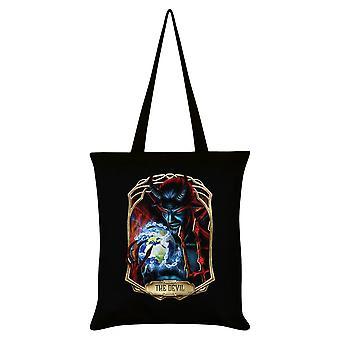 Mortal Tarot Obsidian The Devil Tote Bag