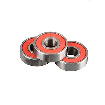10pcs High Carbon Steel Skateboard Roller Skating 608 Bearing Red Cover