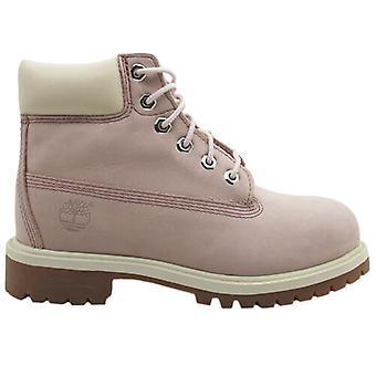 Timberland 6 بوصة قسط الدانتيل حتى الوردي دوبوك الجلود الشباب الأحذية 34792 Z10B