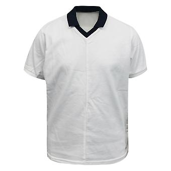 Nike Mädchen Kinder weiß Marine blau kurzärmelige Baumwolle T-Shirt T-Shirt 421390 100 A78E