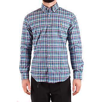 Ralph Lauren Ezbc037219 Mænd's Flerfarvet bomuldsskjorte