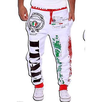 Men's Casual Sweatpants - Italian Flag Print Design