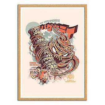 Art-Poster - The Kaiju Spaghetti - Ilustrata
