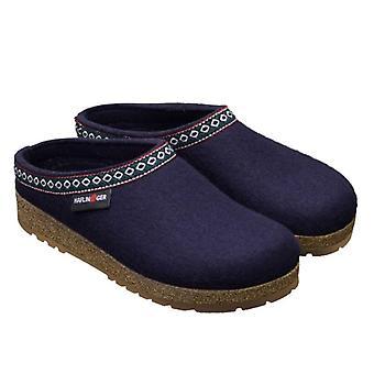Blue Wool Felt Franzl Haflinger Slippers