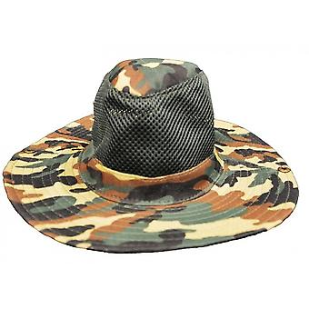 Hat With Military Print Green Unisex