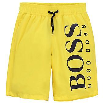 Hugo boss garçons classique logo short de bain jaune j24650 535