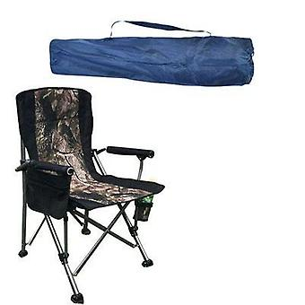 Sturdy Folding Lawn Chair With Hard Arms And Portable Carry Bag Comfortable