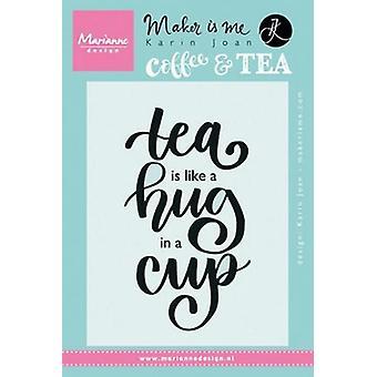 Marianne Design Tea on kuin halaus kupin kirkkaassa leimassa