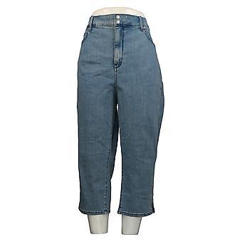 NYDJ Women's Petite Jeans Cool Embrace Skinny Crop Side Blue A377691