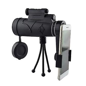 IPRee 50x60 Monocular HD Optic BAK4 Day Night Vision LED Laser Light Telescope + Tripod + Phone Hold