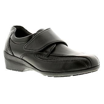 Dr Keller Eva Womens Ladies Leather Wedge Shoes Black UK Size