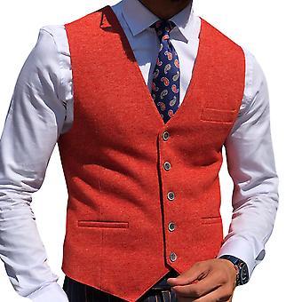 YANGFAN Men's Solid Color Waistcoat