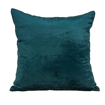 """18"""" x 7"""" x 18"""" Transitional Teal Solid Pillow Cover With Poly Insert"""