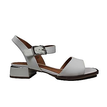 Caprice 28207-102 White Leather Womens Sandals