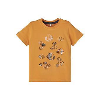 Name-it Jongens Tshirt Folon Spruce Yellow