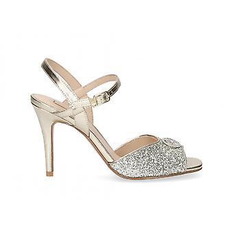 Shoes Women's Sandalo Liu-jo April Tc 95 Light Gold/ Silver Ds21lj17 Sa1013