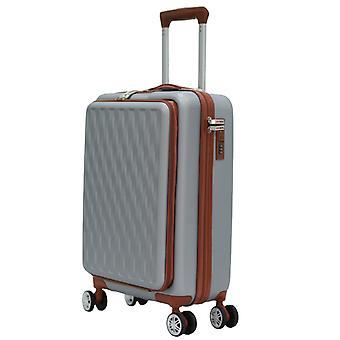 Herzberg Travel HG-8064SLV: Cabin Bag - Silver