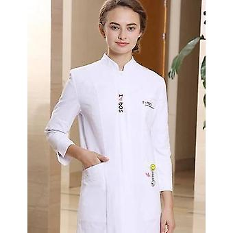 New Beauty Centre Work Coat+pants Sets Workwear