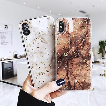 Emerald Marble With Shining Gold Foil Phone Case
