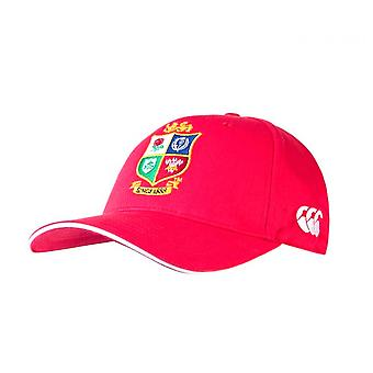 Canterbury British & Irish Lions 2021 Cotton Drill Rugby Baseball Cap Hat Red