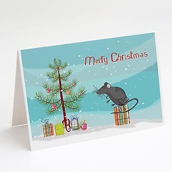 الساتان ماوس عيد ميلاد سعيد بطاقات المعايدة وحزمة مغلفات من 8