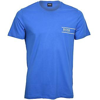 BOSS Luxe Cotton 24 Crew-Neck T-Shirt, Blue/white