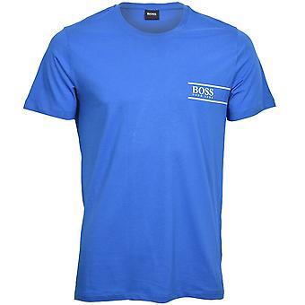 חולצת טריקו עם צווארון עגול קצר BOSS Luxe 24, כחול/לבן